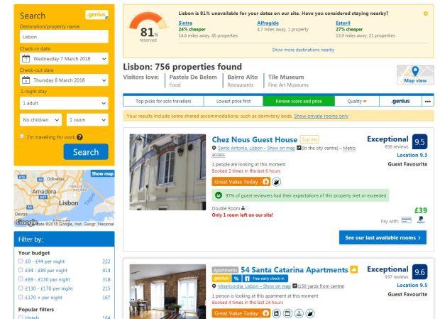 Booking . com 2